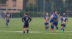 bandini esulta dopo primo gol
