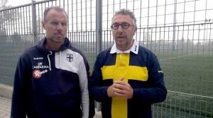 Roberto Bucchioni e Gabriele Majo dopo Parma Carpi Under 15